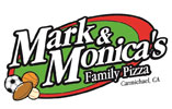 Mark and Monica's Pizza Logo